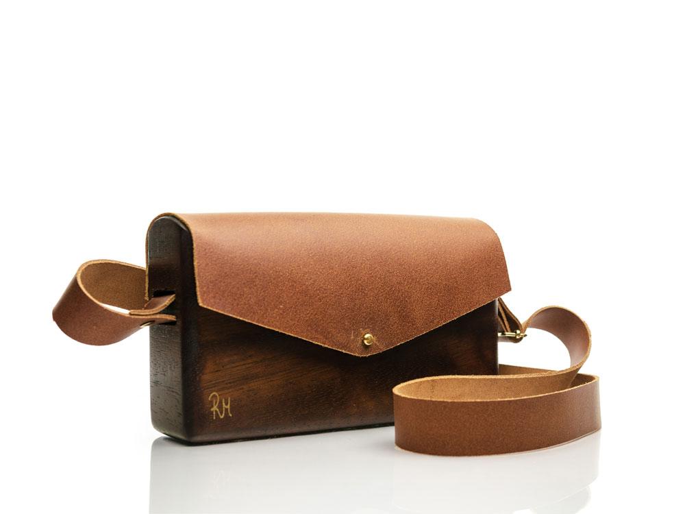 R&M atellier Ξύλινη χειροποίητη τσάντα Θεανώ | Ιρόκο
