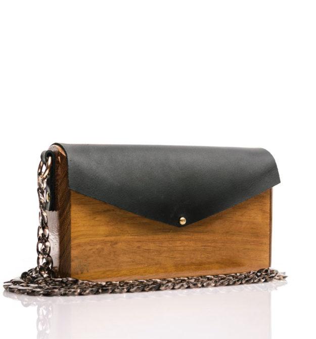 R&M atellier Χειροποίητη ξύλινη τσάντα Ηρώ | Ιρόκο