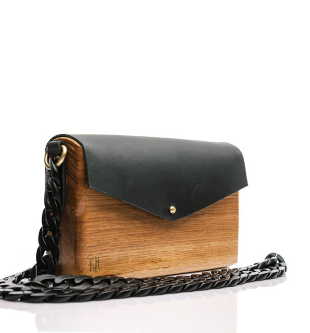 RM Χειροποίητη ξύλινη τσάντα Electra | Δρυς