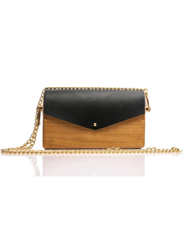 R&M atellier Ξύλινη χειροποίητη τσάντα Άρτεμης | Ιρόκο