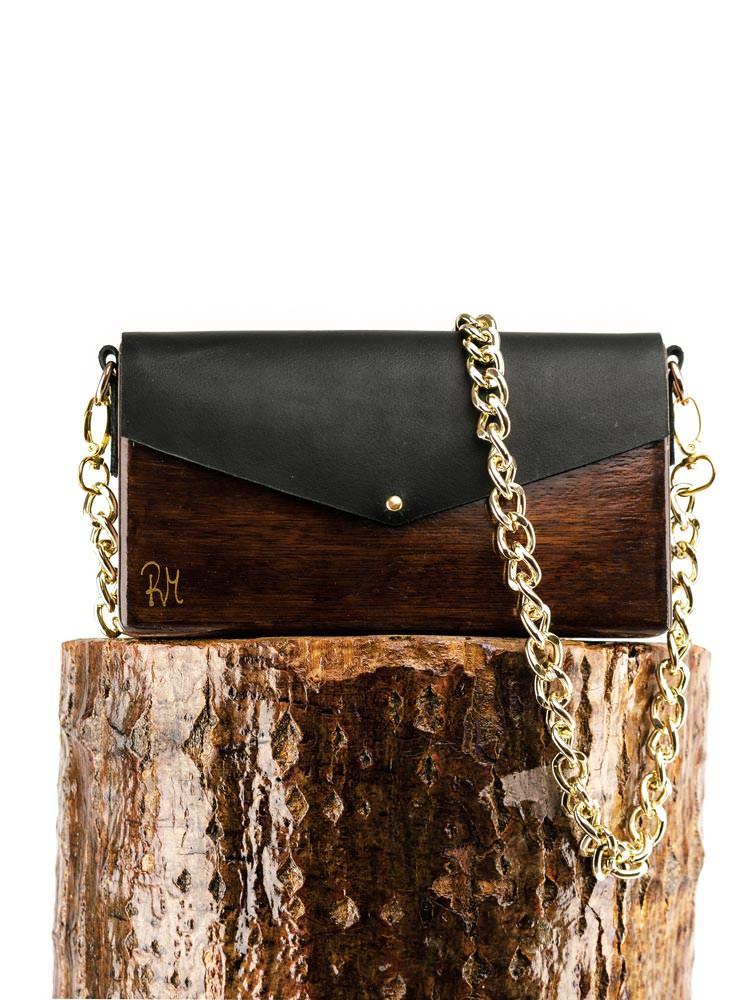 R&M atellier Ξύλινη χειροποίητη τσάντα Χρυσίης   Από ξύλο Ιρόκο