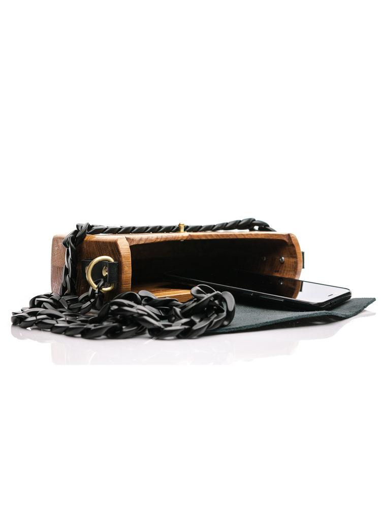 RM Ξύλινη χειροποίητη τσάντα Electra | Δρυς