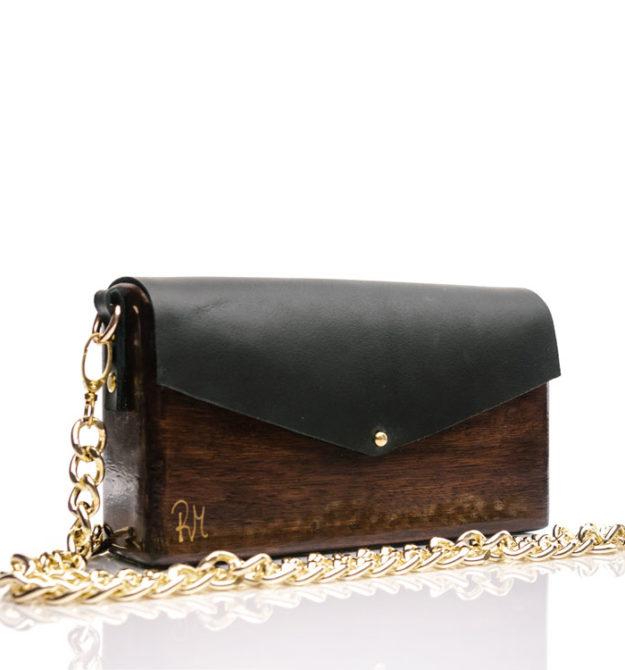RM Ξύλινη χειροποίητη τσάντα Χρυσίης | Ιρόκο