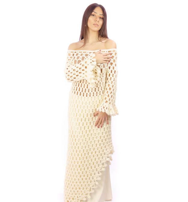 Λευκό χειροποίητο φόρεμα | White Dress | R&M Atellier.gr