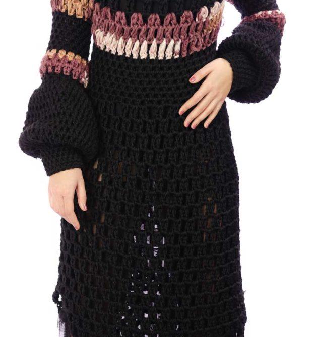 Μαύρο χειροποίητο φόρεμα | Black Dress | R&M Atellier.gr