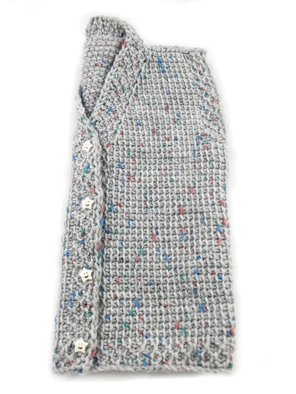Βρεφικό γιλέκο/ζακέτα unisex Baby Grey | Χειροποίητα ρούχα για παιδιά R&M atellier.gr