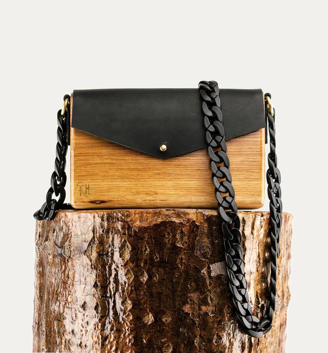 Ξύλινη χειροποίητη τσάντα Electra | Δρυς | R&M atellier