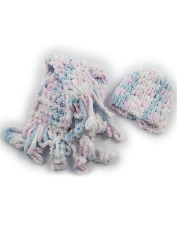 Κασκολάκι παιδικό με σκουφάκι baby sweet set | Χειροποίητα ρούχα για παιδιά R&M atellier.gr