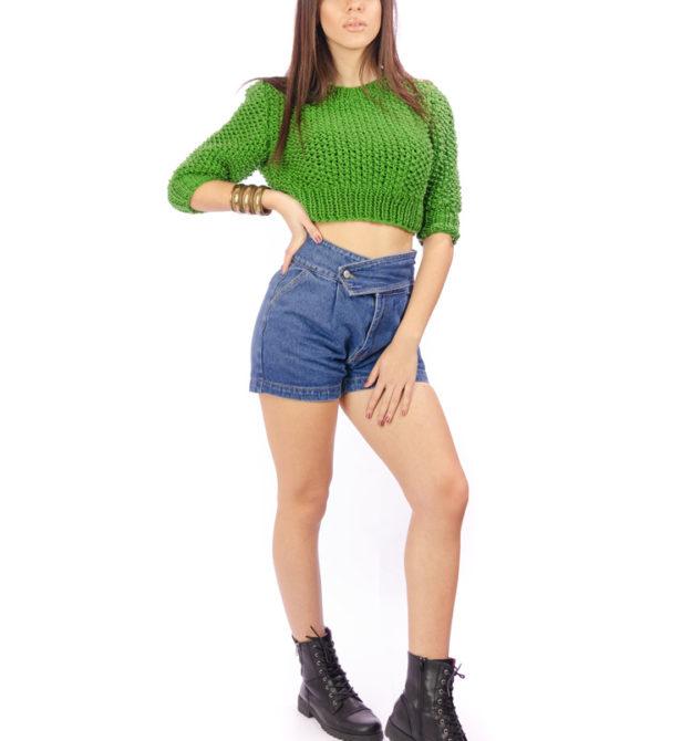 Πράσινη χειροποίητη μπλούζα, R&M atellier
