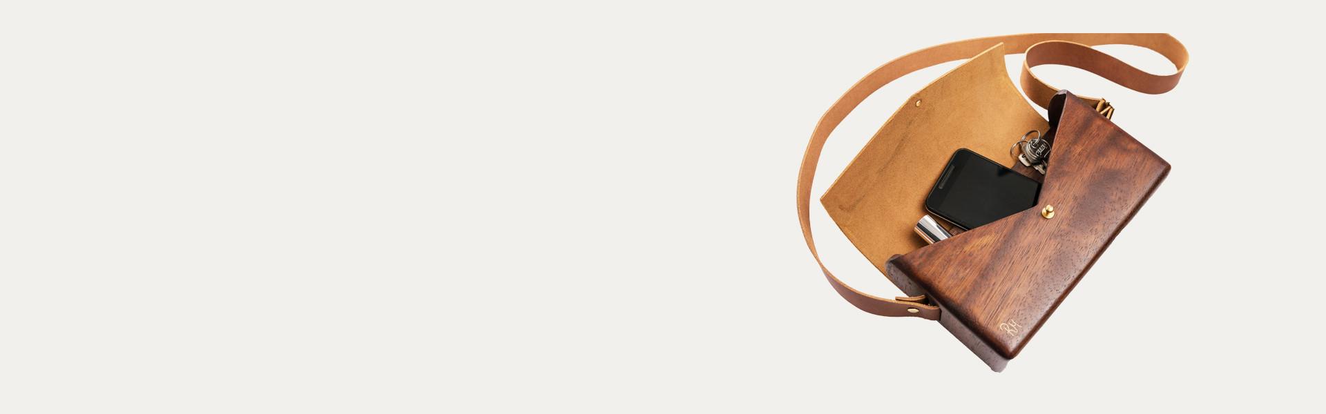 Handmade wooden bags | Χειροποίητες ξύλινες τσάντες - R&M atellier.gr