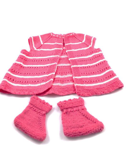 Ζακετάκι με παπαλάκια Pink Baby