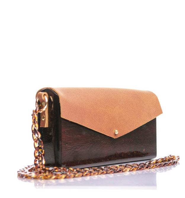 Ξύλινη χειροποίητη τσάντα Αλεξάνδρεια | Ιρόκο | R&M atellier