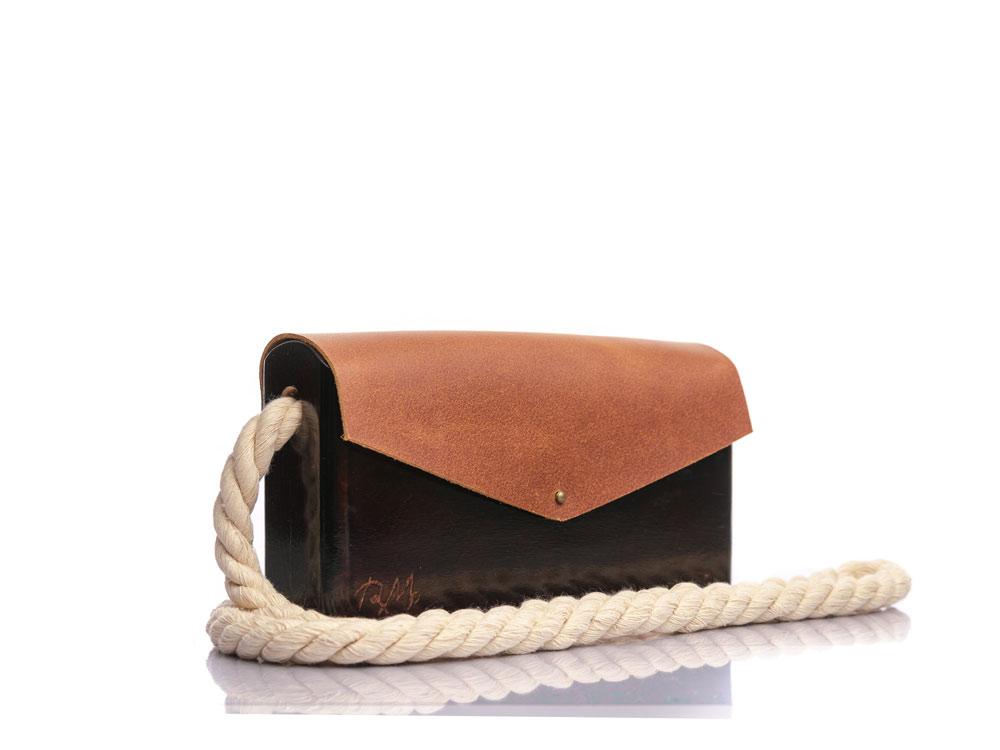 Χειροποίητη ξύλινη τσάντα Κίρκη | Ιρόκο | R&M atellier