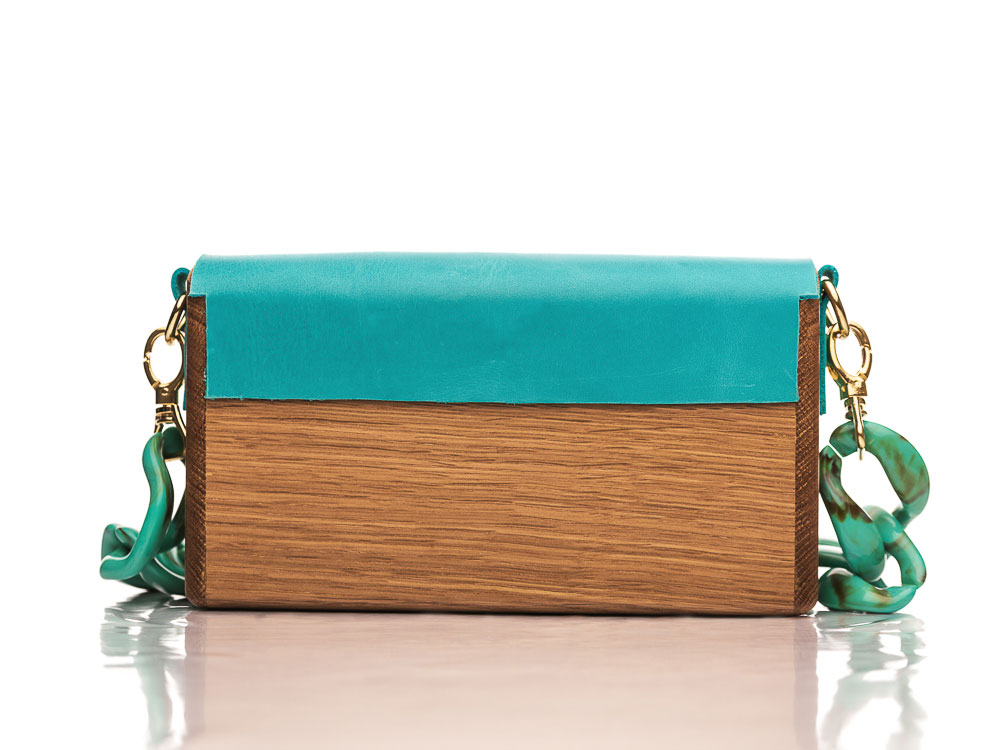 Χειροποίητη ξύλινη τσάντα Αμέλια | R&M atellier.gr | Ξύλινες τσάντες