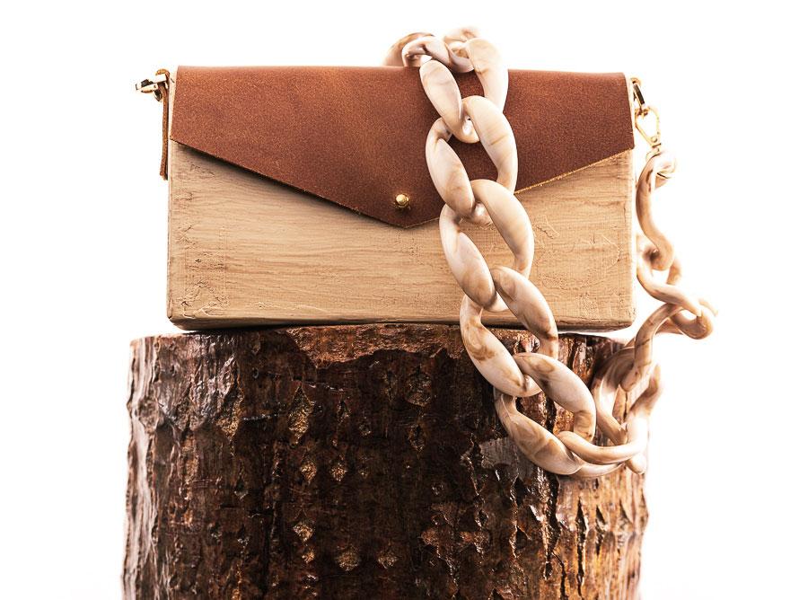 Χειροποίητη ξύλινη τσάντα Ανέζα | R&M atellier.gr | Ξύλινες τσάντες