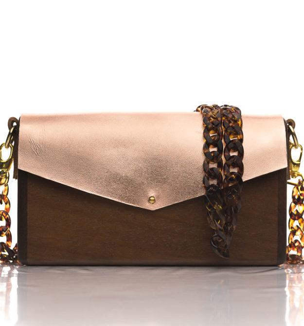 Χειροποίητη ξύλινη τσάντα Απολλώνια | R&M atellier.gr | Ξύλινες τσάντες