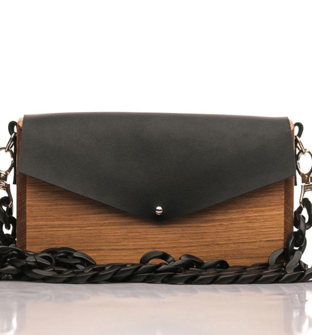 Χειροποίητη ξύλινη τσάντα Αθηναϊς | R&M atellier.gr | Ξύλινες τσάντες