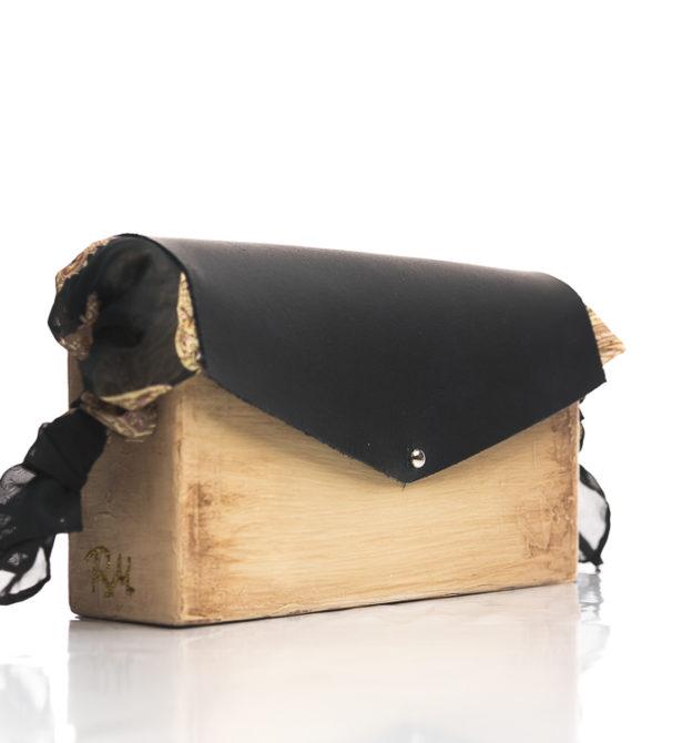Χειροποίητη ξύλινη τσάντα Ιοκάστη | R&M atellier.gr | Ξύλινες τσάντες