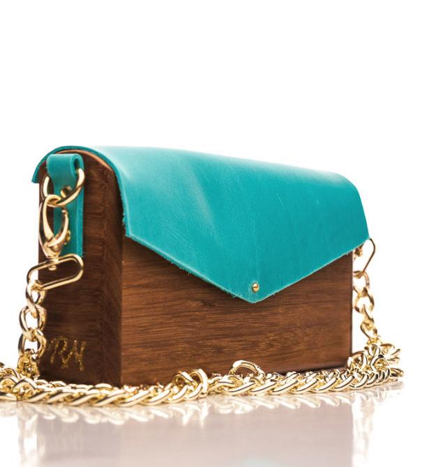 Χειροποίητη ξύλινη τσάντα Νυμφαία | R&M atellier.gr | Ξύλινες τσάντες