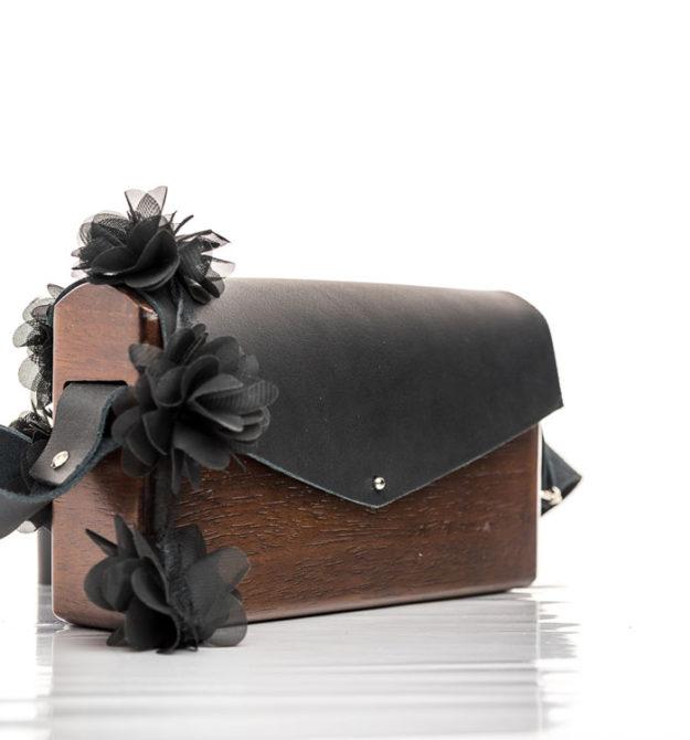 Χειροποίητη ξύλινη τσάντα Ελίνα