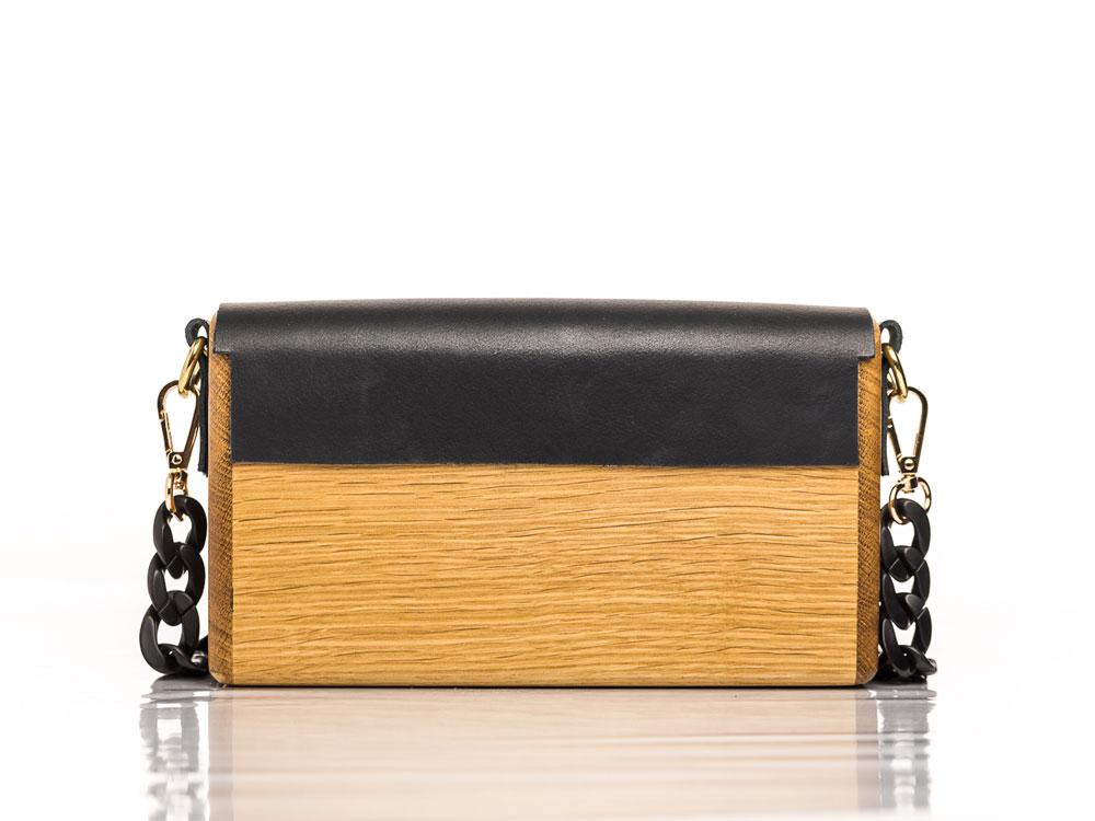 Χειροποίητη ξύλινη τσάντα ΜατένιαΧειροποίητη ξύλινη τσάντα Ματένια